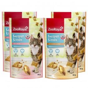 ZooRoyal Katzensnack Knusperkissen Mix 4x70g