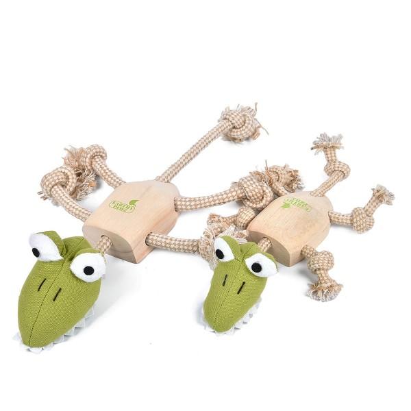 Earthy Pawz Holz Hundespielzeug Alligator