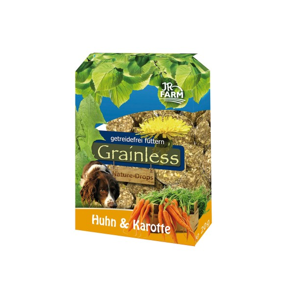 JR Dog Hundesnack Grainless Nature-Drops Huhn & Karotte 30g