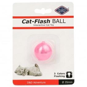 D&D Flash-Ball hračka pro kočky, červená