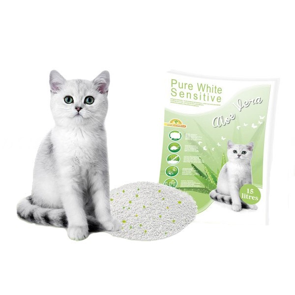Europet Bernina Pure White Katzenstreu Sensitive Aloe Vera 15 Liter