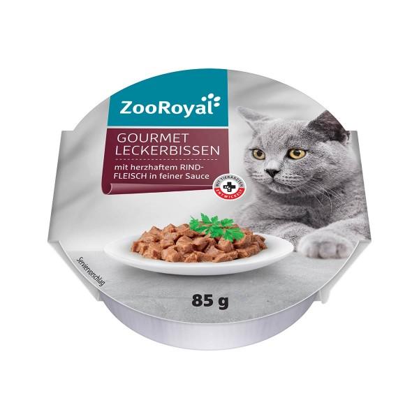 ZooRoyal Gourmet Leckerbissen mit herzhaftem Rindfleisch in feiner Sauce