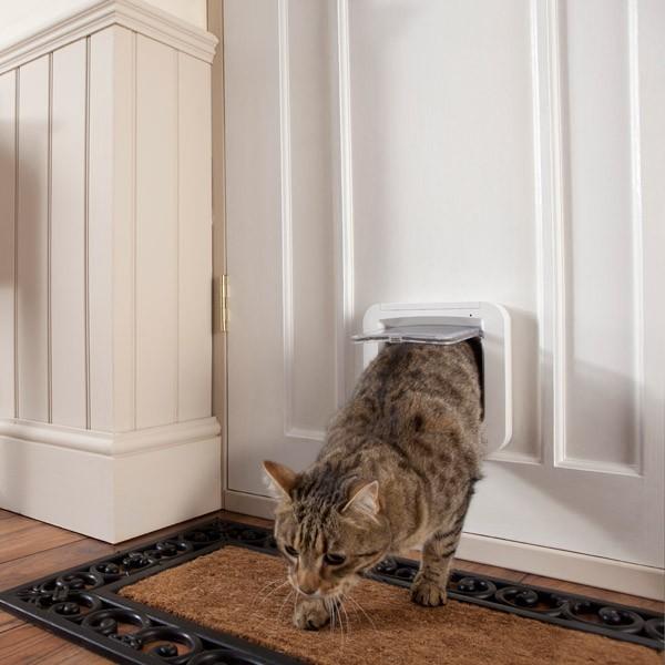 Mikrochipgesteuerte Katzenklappe - Weiß