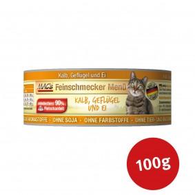 MAC's Cat Katzenfutter Feinschmecker Menü Kalb, Geflügel und Ei