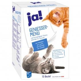 ja! Genießer Menü Multipack Fisch für Katzen 15x100g