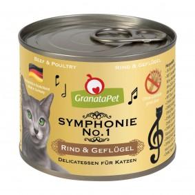 GranataPet Symphonie No. 1 s hovězím a drůbežím masem, 6 x 200 g