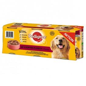 Pedigree Hundefutter 3 Sorten Fleisch 3x800g