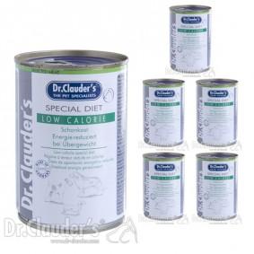 Dr Clauders - Aliment spécial pour chiens, régime à teneur réduite en protéines 6x400g