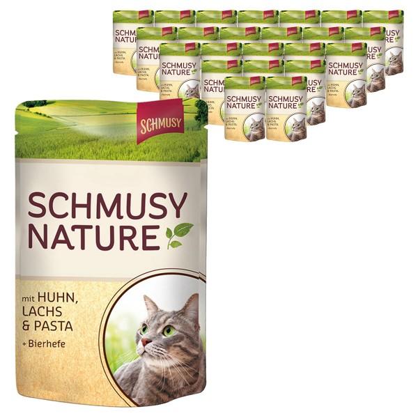 Schmusy Katzen-Nassfutter Nature Pouch 24x100g