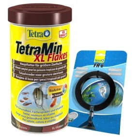 TetraMin XL-Flocken 1000ml + Tetra FR 6 Futtering