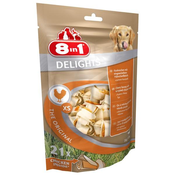 8in1 Delights Kauknochen Huhn im Beutel