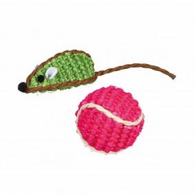 Trixie Sisal-Spielzeugset Maus und Ball