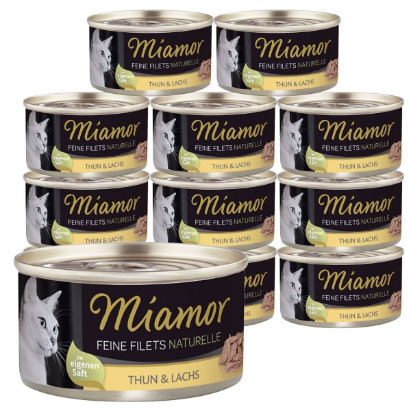 Miamor Feine Filets Naturelle Thunfisch & Lachs 24x80g