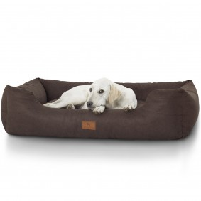 Knuffelwuff bedrucktes Hundebett The best Dog Mira braun