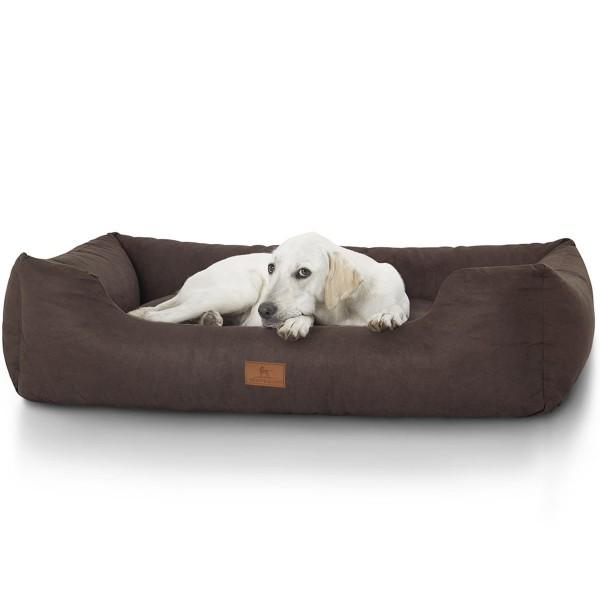 Knuffelwuff bedrucktes Hundebett The best Dog Mira braun XXL 13982-005
