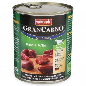 Animonda Hunde-Nassfutter GranCarno Adult Rind und Wild