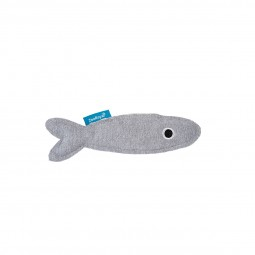 ZooRoyal Katzenspielzeug Fisch mit Katzenminze grau