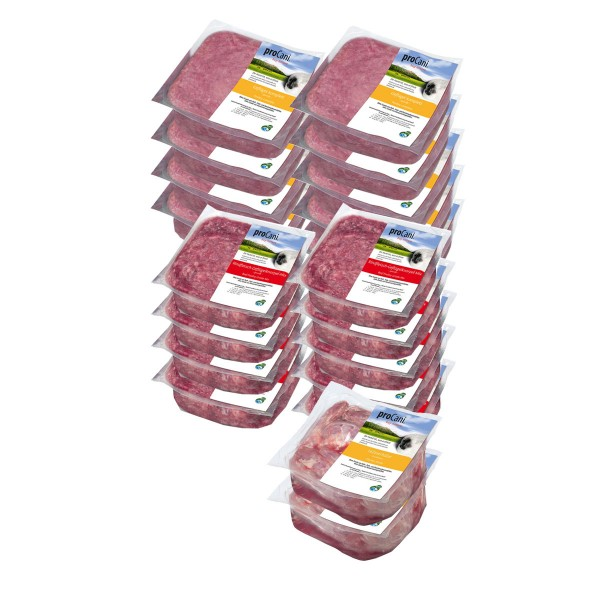 proCani Frostfutter Kalziumreich pur Paket 20x400g