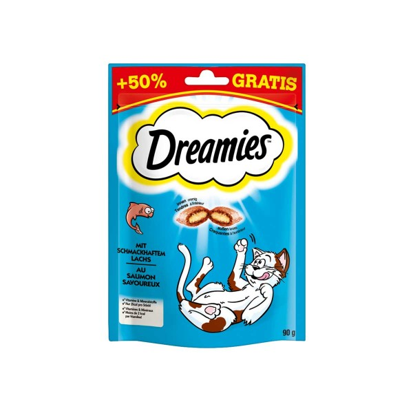 Dreamies mit Lachs 60g + 50%