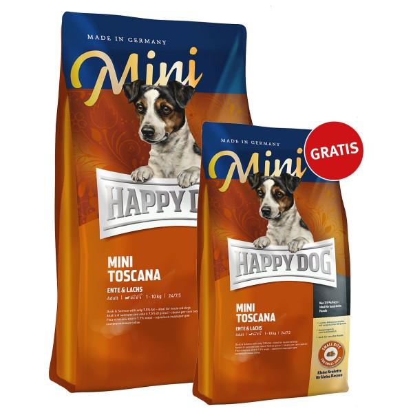 happy dog mini toscana 4kg 1kg gratis g nstig kaufen bei zooroyal. Black Bedroom Furniture Sets. Home Design Ideas