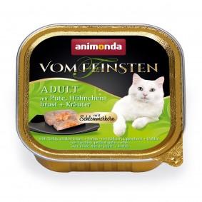 Animonda Vom Feinsten Adult Schlemmerkern mit Pute, Hühnchenbrust + Kräuter 6x100 g