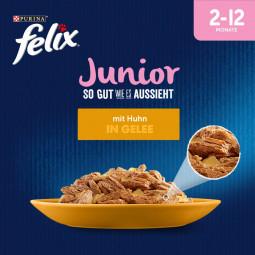 FELIX So gut wie es aussieht in Gelee Junior mit Huhn