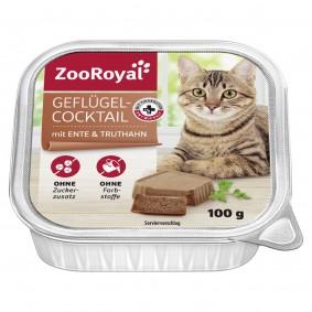 ZooRoyal Katzen-Nassfutter Geflügel-Cocktail mit Ente & Truthahn