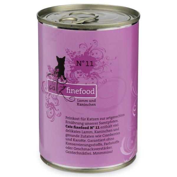 CATZ Finefood Katzen Nassfutter No. 11 Lamm & Kaninchen 400g