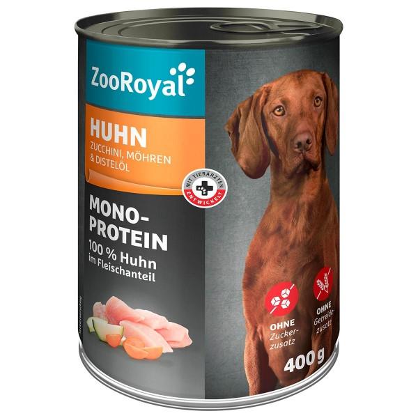 ZooRoyal Mono-Protein Huhn mit Zucchini Möhren & Distelöl