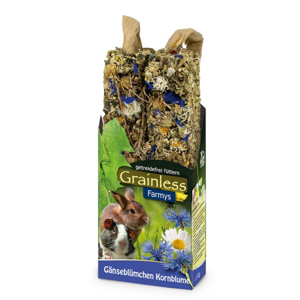JR Farm Nagersnack Grainless Farmys Gänseblümchen-Kornblume