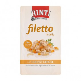 Rinti Hunde-Nassfutter Filetto in Jelly Huhn und Gemüse 125g