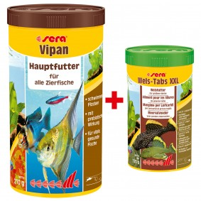 Sera Sparbundle Vipan 1000ml + Wels-Tabs 250ml