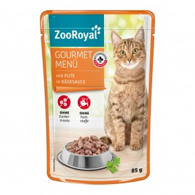 ZooRoyal Gourmet Menü mit Pute in Käsesauce