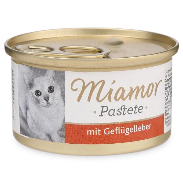 Miamor Nassfutter Katzenzarte mit Geflügelleber in Soße