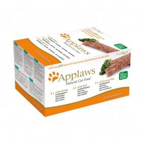 Applaws Cat Paté Pute, Rind & Seefisch 7x100g