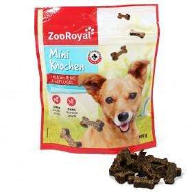 ZooRoyal Hundesnack Mini Knochen mit Rind & Geflügel 100g