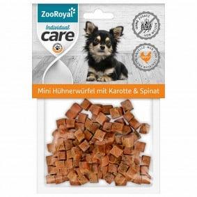 ZooRoyal Individual care mini kuřecí kostky smrkví ašpenátem, 70g
