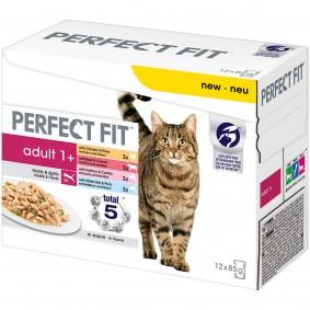 Perfect Fit Katzenfutter Adult 1+ Mix Multipack 12x85g