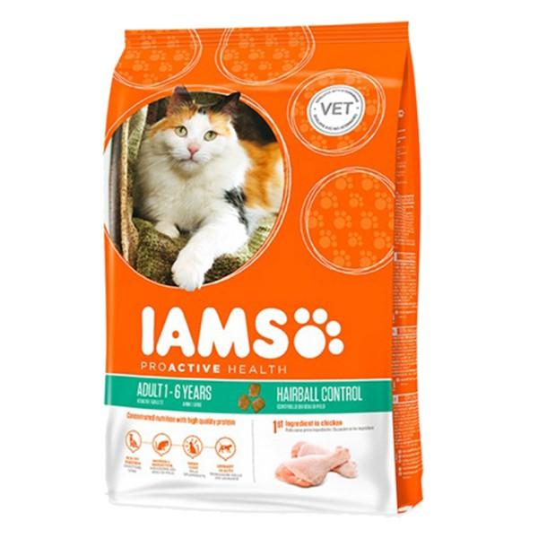 IAMS Katze Trockenfutter Adult Hairball Control...