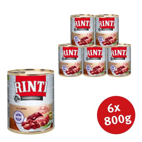 Rinti Hunde-Nassfutter Kennerfleisch mit Lamm -...