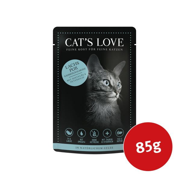 Cat´s Love Nassfutter Lachs Pur mit Distelöl & ...