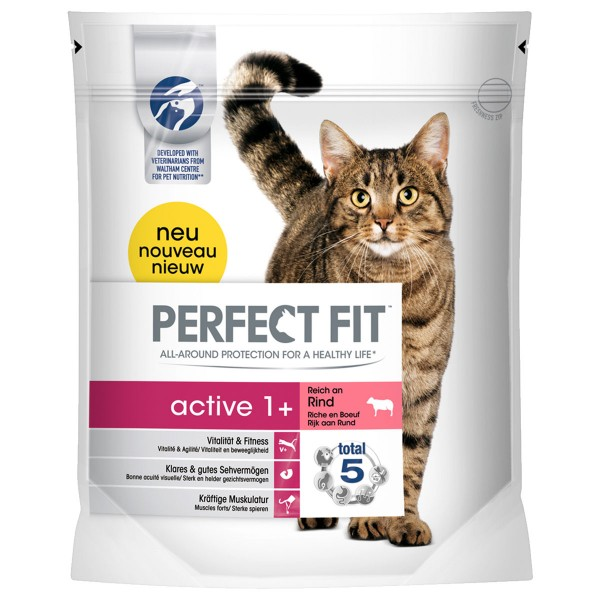 Perfect Fit Katzenfutter Active 1+ reich an Rind