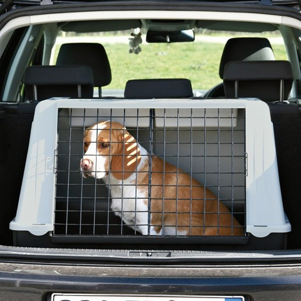 Trixie Traveller 82 Hundebox grau/schwarz