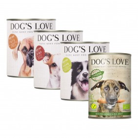 Dog's Love Bio Mixpaket 4x400g