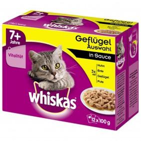 Whiskas 7+ Geflügelauswahl in Sauce Multipack 12x100g