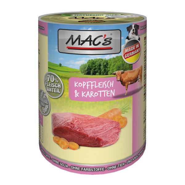 MAC´s Dog Kopffleisch & Karotten 6x400g
