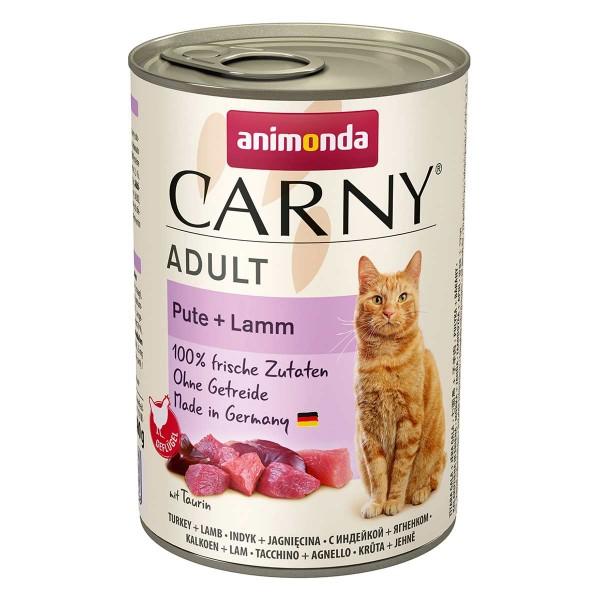 animonda Carny Adult Pute + Lamm 400g Dosen