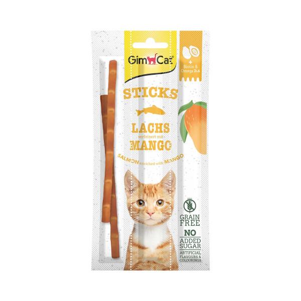 GimCat Superfood DuoSticks mit Lachs & Mangogeschmack
