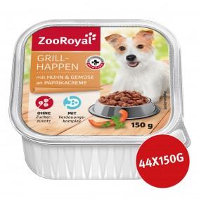 ZooRoyal Grillhappen Huhn & Gemüse an Paprikacreme 44 x 150g
