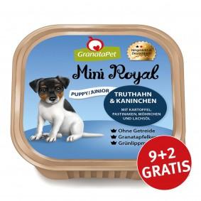GranataPet Mini Royal Junior Truthahn und Kaninchen 150g 9+2 GRATIS